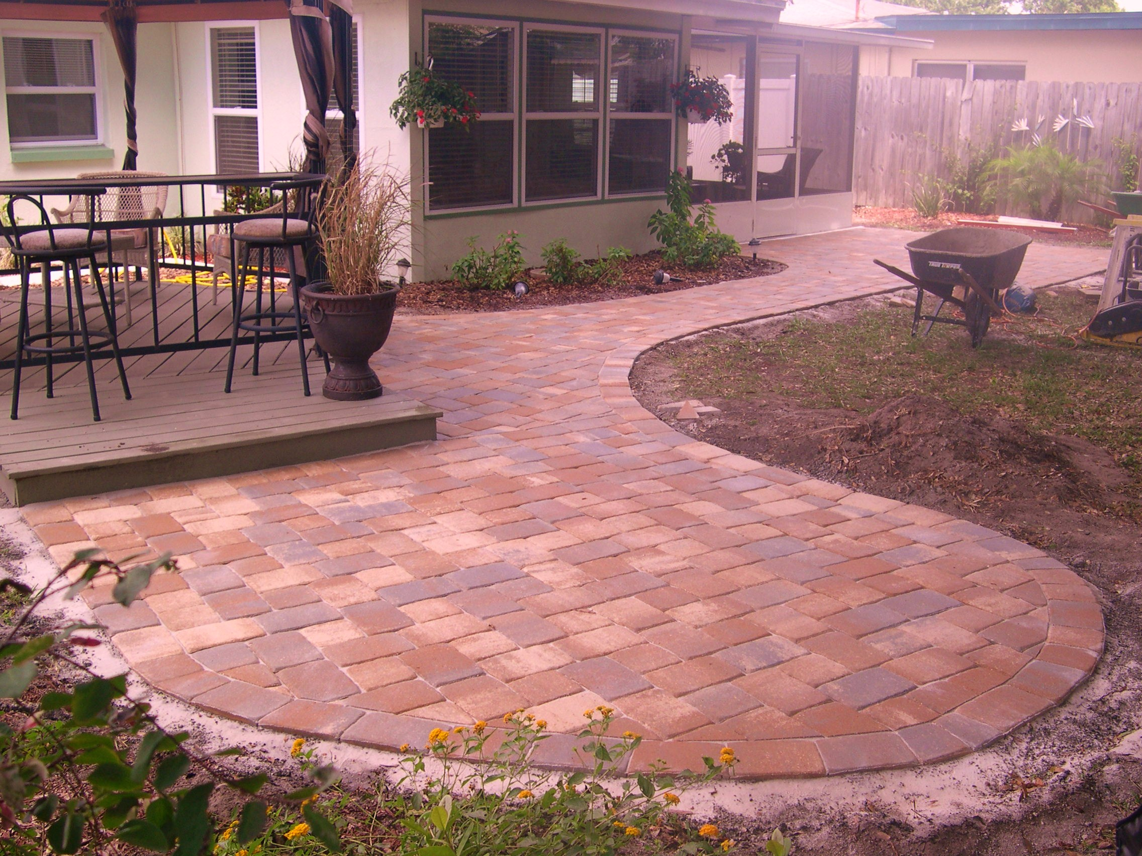 Backyard pavers  Sapphire Developments Inc